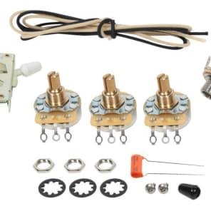 strat wiring kit 5-way crl switch cts pots switchcraft  022�f orange drop  cap