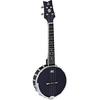 Ortega Guitars OUBJ100-SBK Bangolele Series Concert Bangolele in Satin Black w/ Demo Video for sale