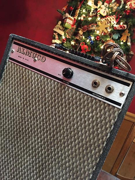 Vintage Almuco tube amp w/sparkle tolex - 70s