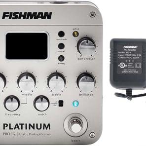 Fishman Platinum Pro-EQ Guitar/Bass Preamp/EQ/DI w/XLR Out, Free 910-R AC Adapter