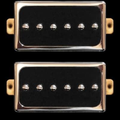 GuitarHeads CONVERSION P90 Pickups - Fits Humbucker - Bridge/Neck Set of 2 - CHROME