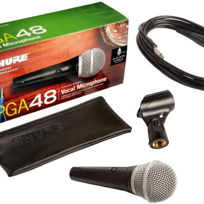 Shure PGA48-QTR Cardioid Dynamic Vocal Mic with 15' XLR to 1/4 Cable