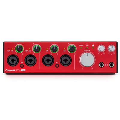 Focusrite Clarett 4 Pre USB 10-in 4-out Audio Interface for PC and Mac