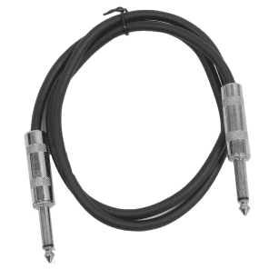 "Seismic Audio SASTSX-3BLACK 1/4"" TS Patch Cable - 3'"