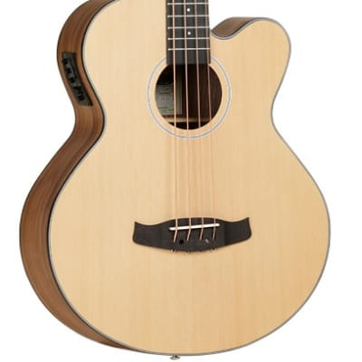 Tanglewood Discovery Exotic Series DBT-AB-BW Electro-Acoustic Bass Cutaway for sale