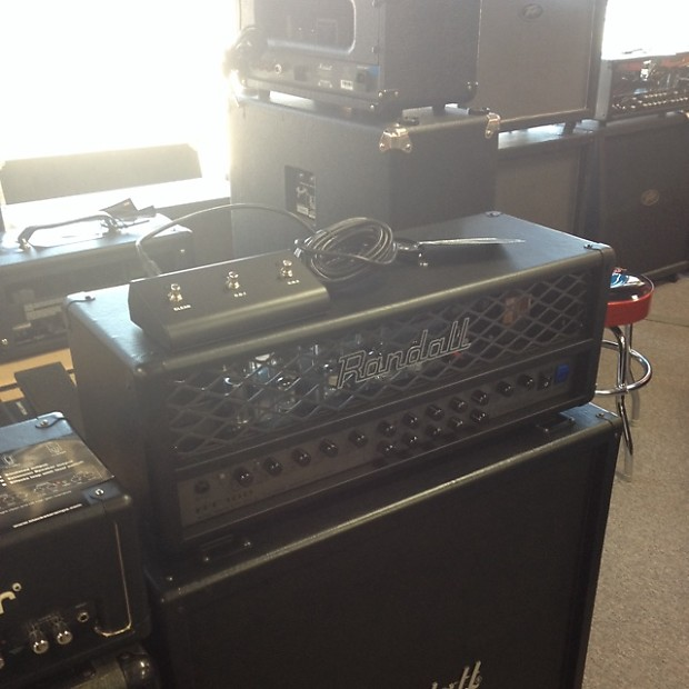 randall rt100 all tube guitar amplifier head with foot reverb. Black Bedroom Furniture Sets. Home Design Ideas