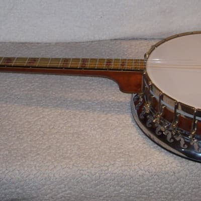 1920s Bacon and Day Roy Smeck Stage Model Silver Bell Tenor Banjo for sale