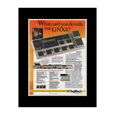 2004 Digitech GNX4 Multi-Modeling Workstation Original Magazine Ad Double Matted for 11 x 14 Frame