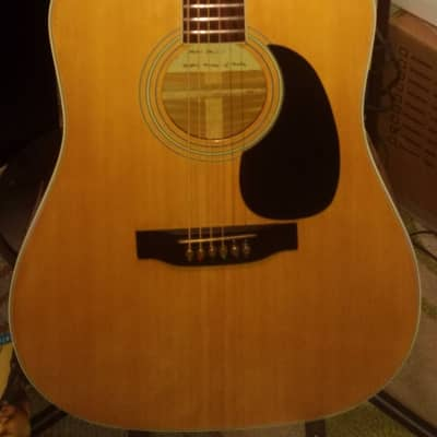 CARLOS  250M Deluxe Maple Dreadnought Guitar Dec 1980 Brass Saddle, Nut, & Pegs for sale