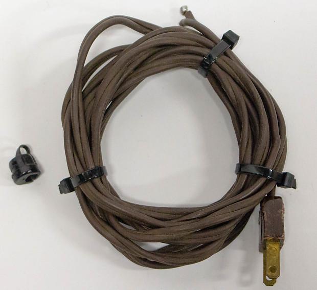 Vintage Tweed Blonde Fender Amplifier Amp Brown 2 Prong Power Cord