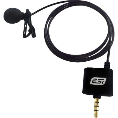 New ESI AudioTechnik cosMik Lav Professional Lavalier Condenser Microphone for Smartphones