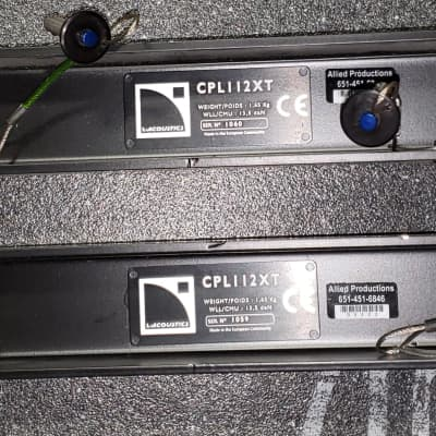 L'acoustics CPL112XT Coupling adapter bars used in conjunction with  ETR112XT to array two 112XT ver