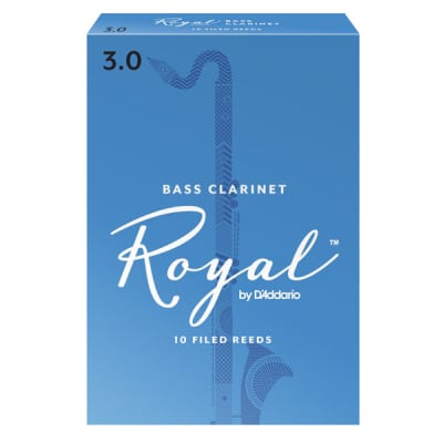 Rico Royal Bass Clarinet Reeds Strength 3-1/2, Box of 10