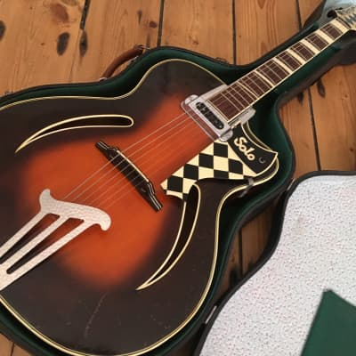 Migma Meister Solo Archtop Hollow Body Electro Acoustic Guitar Germany 1950s Martin Graubner for sale