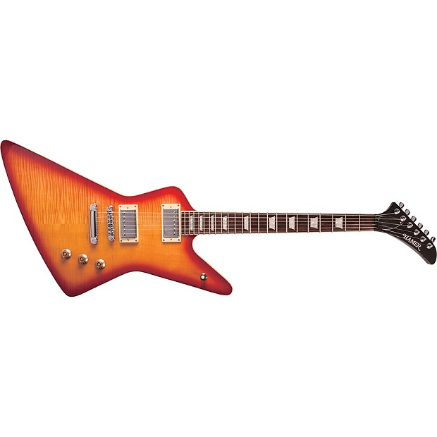 hamer stdf cs the standard flame top xt cherry sunburst reverb