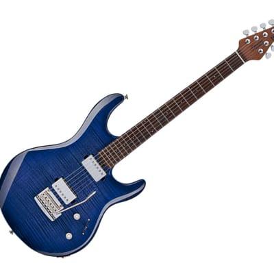 Sterling by Music Man LK100-BLB Luke Flame Top Blueberry Burst for sale