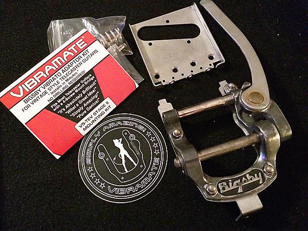 Bigsby B5 Vibramate V5-TEV Stage II Relic Fender Telecaster Vibrato  Complete Kit