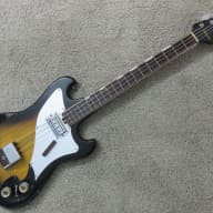 Vintage 1960s Teisco Decca Lyle Conrad Long Scale Bass Solid Tight Player Looks Cool Too! for sale