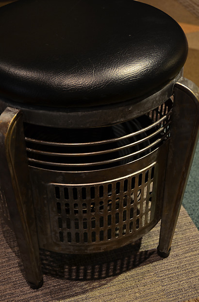 Atomic Age Industrial Audio Art Rocket Stool 1x12