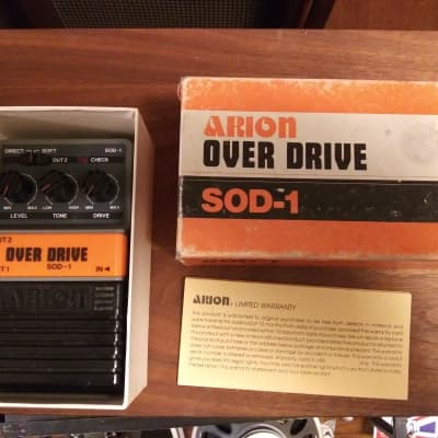 Arion SOD-1 japan overdrive guitar pedal, early grey old stock awesome shape, just look! in box!! for sale