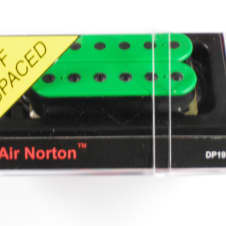 DiMarzio F-spaced Air Norton Humbucker Green W/Black Poles DP 193