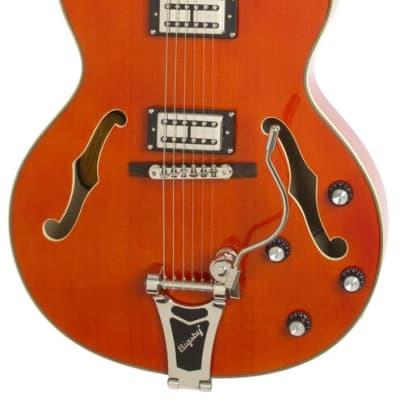 Epiphone Emperor Swingster Hollowbody Electric Guitar - Sunrise Orange - One Only for sale