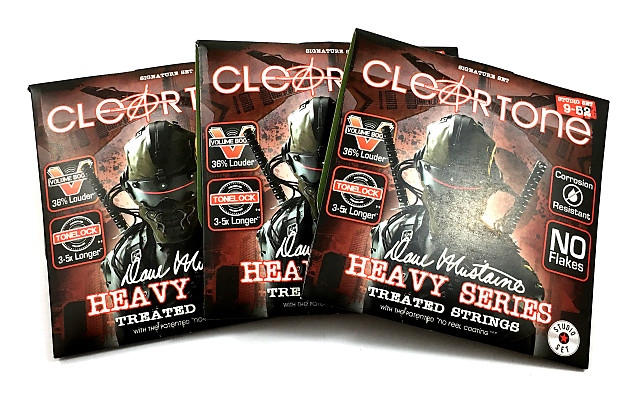 Cleartone Guitar Strings 3 Pack Electric Dave Mustaine Signature Custom Studio