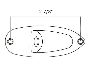 cp6 fender style stratocaster output jack cup plate. Black Bedroom Furniture Sets. Home Design Ideas
