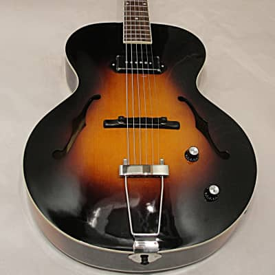 The Loar LH-309 ArchTop Hand Carved Solid Top  F Hole Acoustic Guitar w P-90 PICKUP w Case
