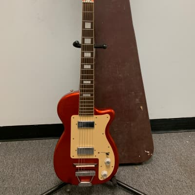 2009 Eastwood Airline H44 DLX Electric Guitar with HSC - Copper for sale