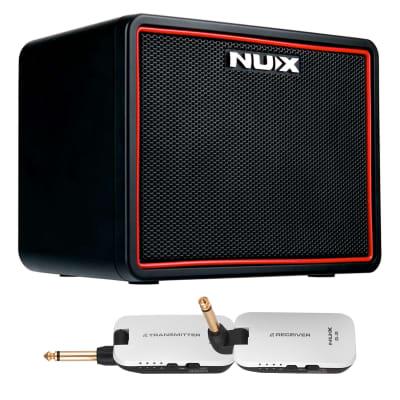 NUX Mighty Lite BT Desktop Bluetooth Guitar Amp w/ B-2 White 2.4 GHz Digital Instrument System