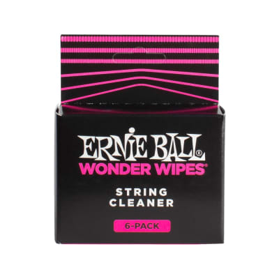 Ernie Ball Wonder Wipes String Cleaner 6-Pack for sale