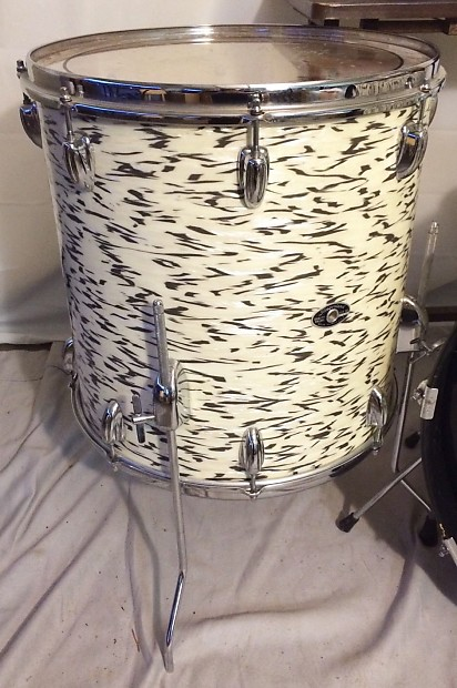 vintage slingerland white tiger pearl drum set reverb. Black Bedroom Furniture Sets. Home Design Ideas