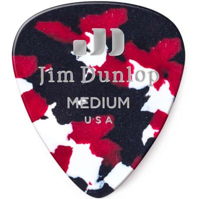 Dunlop 483R06MD Celluloid Standard Classics Medium Guitar Picks (72-Pack)
