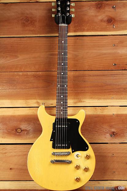 Gibson 2003 Les Paul Double Cut Cutaway Dc Worn Tv Yellow