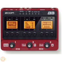 Zoom B3 Bass Effects and Amp Simulator 2010s Red image