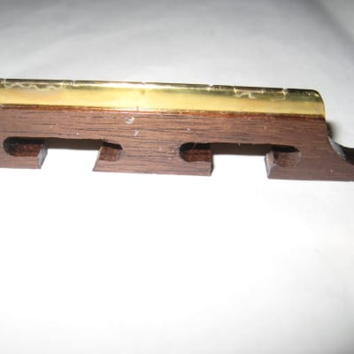 Harmony Bridge for 5 String Banjo Rosewood and Brass Vintage 1960's for sale