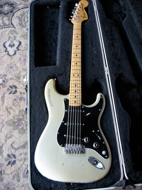 fender stratocaster 25th anniversary 1979 silver finish reverb. Black Bedroom Furniture Sets. Home Design Ideas