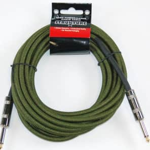 "Strukture SC186MG Woven 1/4"" TS Instrument Cable - 18.6'"
