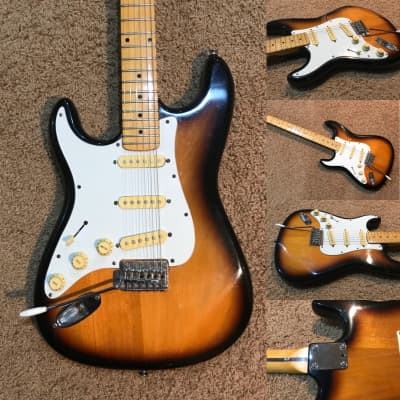 Hohner Left Handed ST57 1980's Two-Tone Sunburst for sale
