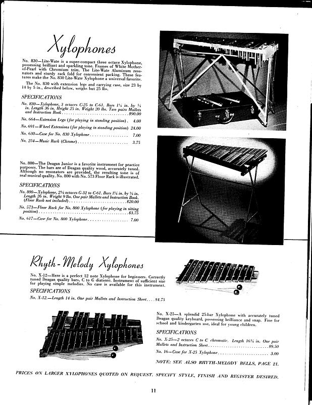 Deagan Rhyth-Melody X-25 Rosewood Xylophone / 1930s - 1940s