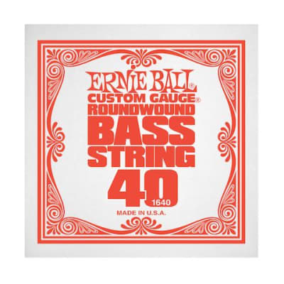Ernie Ball 1640 40 Roundwound Bass Single String
