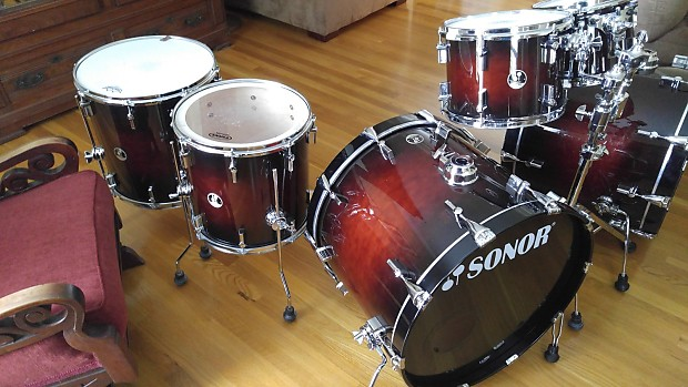 Sonor Force 3007 Smooth Brown Burst All Maple Double Bass
