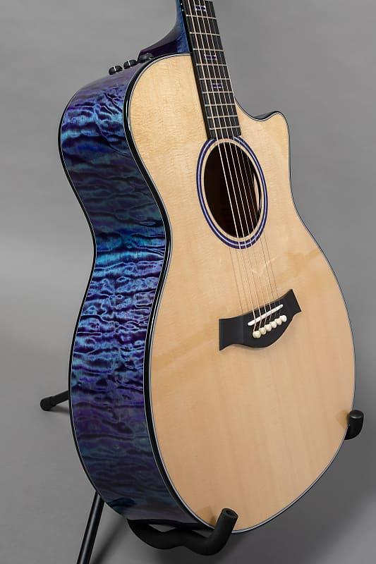 Taylor Custom GA 2018 Dual Stain Blue/Purple over Teal