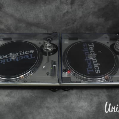 Technics SL-1200 MK3D Silver pair Direct Drive DJ Turntable in VG condition