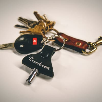 Reverb Drum Key Leather Keychain image