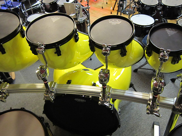 staccato drum kit 8pc late 1970 39 s yellow reverb. Black Bedroom Furniture Sets. Home Design Ideas