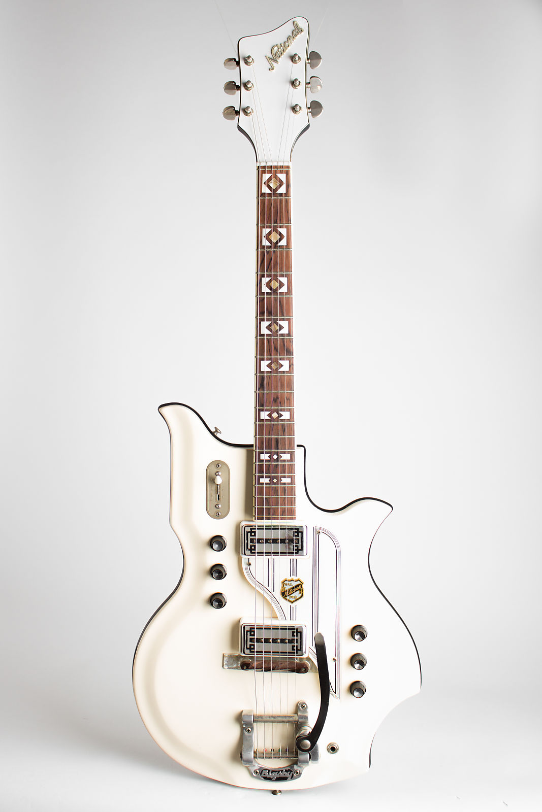 National  Glenwood 98 Solid Body Electric Guitar (1964), ser. #G-37688, original black hard shell case.