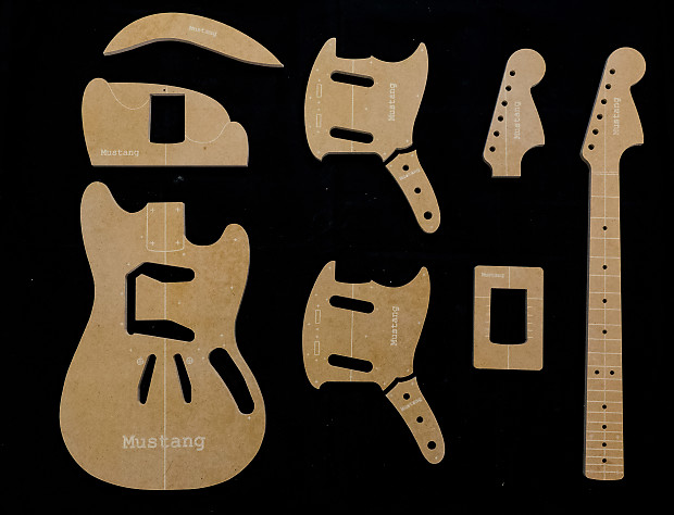 Guitar templates mustang poly coated 12 mdf cnc reverb guitar templates mustang poly coated 12 mdf cnc router set w neck maxwellsz