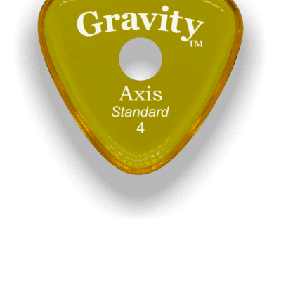 Gravity Pick Axis Round Grip 4mm Yellow Acrylic  <GAXS4PR>